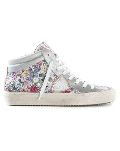 philippe model damen high top sneakers mit blumen print. Black Bedroom Furniture Sets. Home Design Ideas