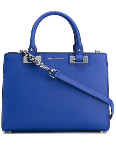 michael kors kleine handtasche michael michael kors cynthia small satchel bag in blue lyst. Black Bedroom Furniture Sets. Home Design Ideas