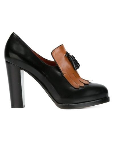 santoni damen pumps mit hohem blockabsatz reduziert. Black Bedroom Furniture Sets. Home Design Ideas
