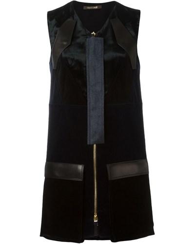 roberto cavalli damen kleid mit rei verschluss 46 reduziert. Black Bedroom Furniture Sets. Home Design Ideas