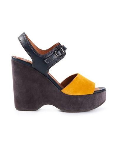 chie mihara damen plateau sandalen mit hohem absatz 30. Black Bedroom Furniture Sets. Home Design Ideas