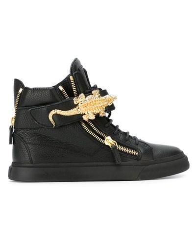 giuseppe zanotti damen high top sneakers mit krokodil 50. Black Bedroom Furniture Sets. Home Design Ideas