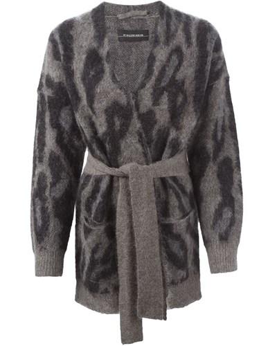 by malene birger damen cardigan mit leoparden muster 37 reduziert. Black Bedroom Furniture Sets. Home Design Ideas