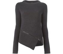 Asymmetrischer Pullover mit Reißverschluss