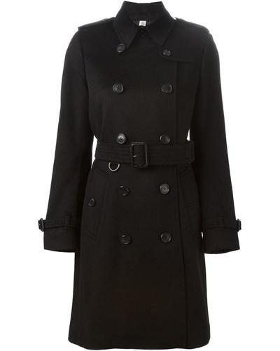 burberry damen mantel mit doppelter knopfleiste reduziert. Black Bedroom Furniture Sets. Home Design Ideas