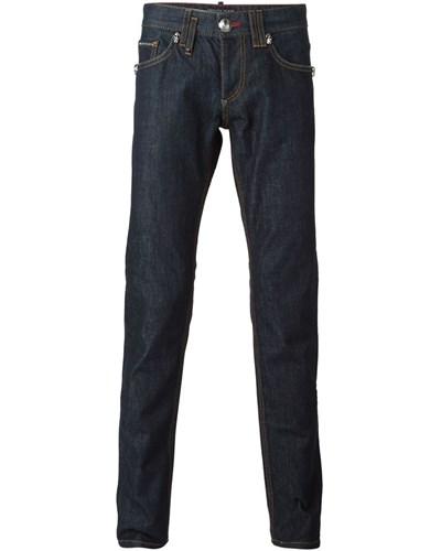 philipp plein herren jeans mit geradem bein reduziert. Black Bedroom Furniture Sets. Home Design Ideas