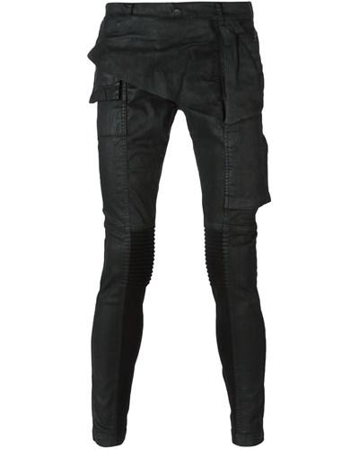 drkshdw by rick owens herren beschichtete skinny jeans. Black Bedroom Furniture Sets. Home Design Ideas