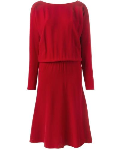 lanvin damen kleid mit u boot ausschnitt reduziert. Black Bedroom Furniture Sets. Home Design Ideas
