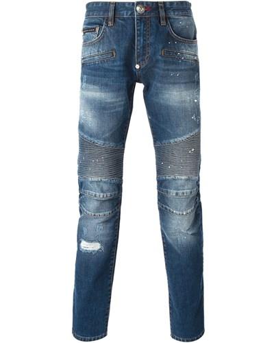 philipp plein herren jeans mit eins tzen reduziert. Black Bedroom Furniture Sets. Home Design Ideas