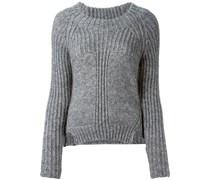 Sweatshirt mit gerippten Akzenten