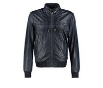 Pepe Jeans SPIKE Lederjacke airforce blue