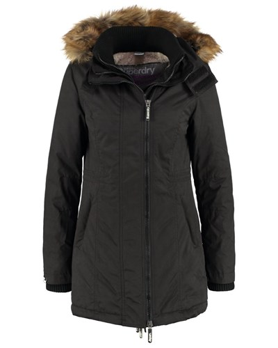 superdry damen superdry parka black reduziert. Black Bedroom Furniture Sets. Home Design Ideas