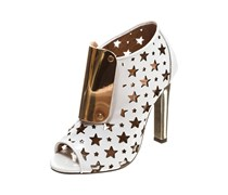 Jeffrey Campbell High Heel Stiefelette white patent/gold