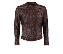 Pepe Jeans WOODHOUSE Lederjacke brown