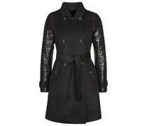Deha Wollmantel / klassischer Mantel nero