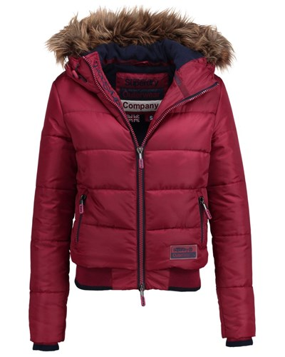 superdry polar sports puffer winterjacke cherry. Black Bedroom Furniture Sets. Home Design Ideas