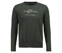 New Zealand Auckland Strickpullover army green