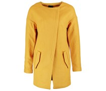 ICHI TOFA Wollmantel / klassischer Mantel golden yellow