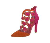 Jeffrey Campbell SEUSS High Heel Stiefelette claere orange fuchsia