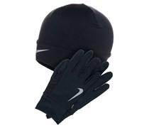 Nike Performance RUNNING SET Fingerhandschuh black