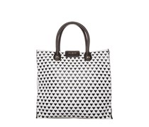 Guess ADRIANA Shopping Bag white multi