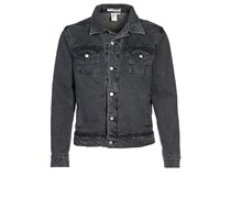 American Apparel Jeansjacke stonewashed black