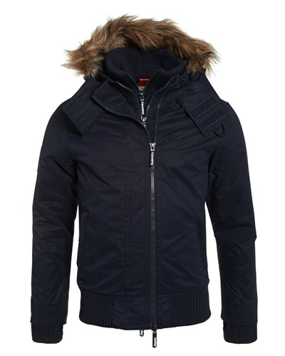 superdry herren superdry winterjacke dark navy reduziert. Black Bedroom Furniture Sets. Home Design Ideas
