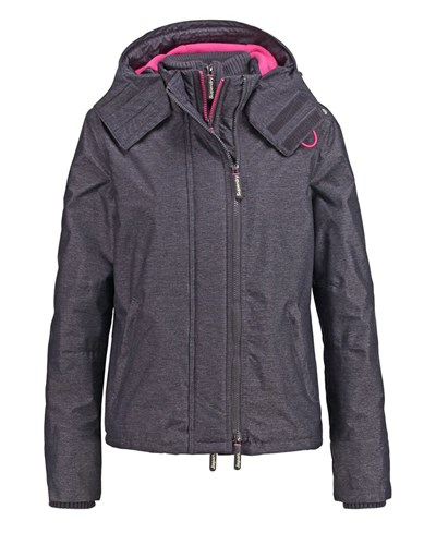 superdry damen superdry pop winterjacke mid charcoal punk pink reduziert. Black Bedroom Furniture Sets. Home Design Ideas