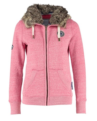 superdry damen superdry sweatjacke red reduziert. Black Bedroom Furniture Sets. Home Design Ideas