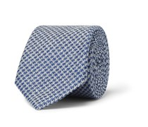 Textured Wool and Silk-Blend Tie