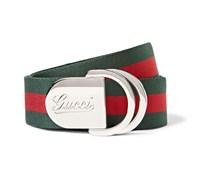 4cm Striped Canvas Belt