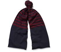 Striped Cotton-Jersey Scarf