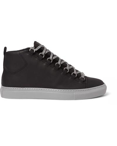balenciaga herren leather high top sneakers reduziert. Black Bedroom Furniture Sets. Home Design Ideas