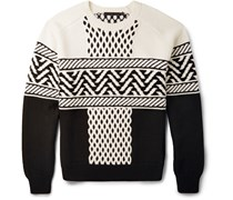 Fair Isle Cable-Knit Sweater