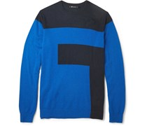 Two-Tone Intarsia Sweater