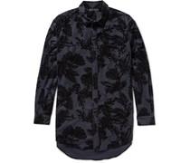 Flocked Stretch-Wool Shirt