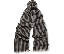 Striped Wool And Silk-Blend Scarf
