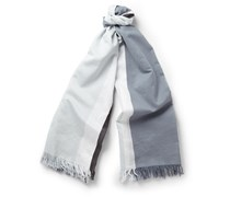 Striped Cotton and Silk-Blend Scarf