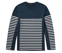 T By Alexander Wang Striped Loopback Cotton-Jersey Sweatshirt