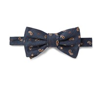 Embroidered Silk-Blend Bow Tie