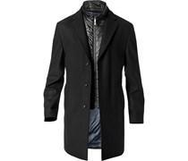 Herren JOOP! Mantel Maris V1 schwarz unifarben Kurzmantel