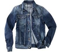 Herren Pepe Jeans Jeansjacke jeansblau unifarben Jacke