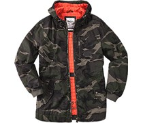 Herren Pepe Jeans Jacke Dorian grün,orange camouflage,camouflage Sportiv,Sportiv