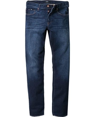 herren hugo boss jeans maine1 5 50271483 420 blau unifarben meliert sportiv trendig fashion. Black Bedroom Furniture Sets. Home Design Ideas