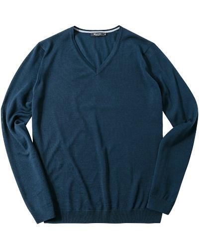 maerz herren herren maerz v pullover blau unifarben klassisch reduziert. Black Bedroom Furniture Sets. Home Design Ideas
