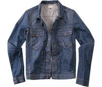 Herren HILFIGER DENIM Jeans-Jacke blau unifarben Sportiv,Trendig,Fashion