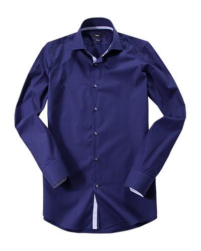 hugo boss herren herren hugo boss hemd gregory blau. Black Bedroom Furniture Sets. Home Design Ideas