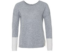 Back To Front Sweater Grau Ecru