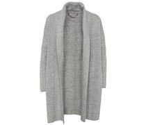 Open Front Shawl Jacket Grey Melange