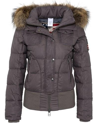 true religion damen down jacket with raccoon fur stone 51 reduziert. Black Bedroom Furniture Sets. Home Design Ideas